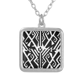 Greek Pattern Silver Plated Necklace