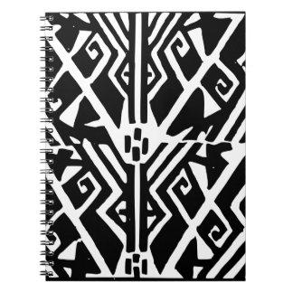 Greek Pattern Spiral Notebook