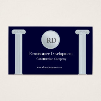 Greek Pillars Construction Business Card