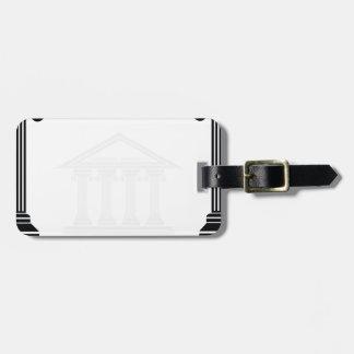 greek pillars luggage tag