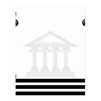 greek pillars postcard