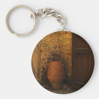 Greek pithos from Crete  - Minoan Period Basic Round Button Keychain