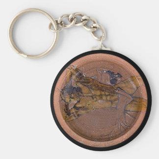 Greek Plate Basic Round Button Keychain