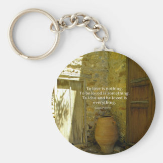 Greek Proverb about love Basic Round Button Keychain