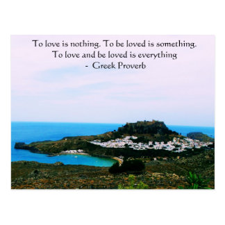 Greek Proverb about love Postcard