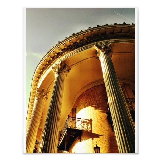 Greek Revival Portico, Savannah Art Photo