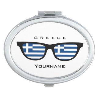 Greek Shades custom pocket mirror Compact Mirror