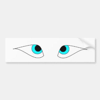 """Greek Ship """"Eyes"""" Car Bumper Sticker"""