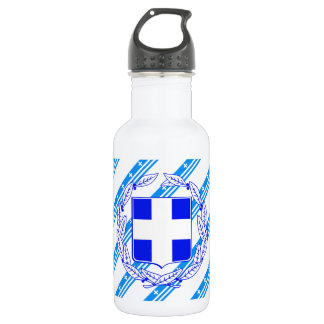 Greek stripes flag 532 ml water bottle