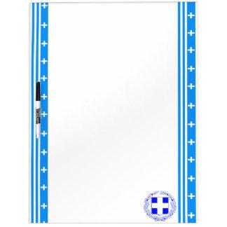 Greek stripes flag dry erase board