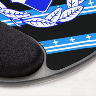 Greek stripes flag gel mouse pad