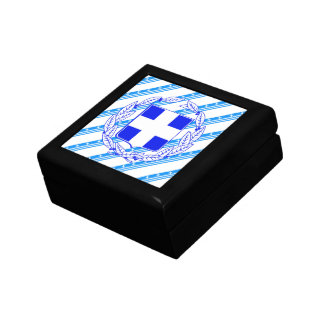 Greek stripes flag gift box