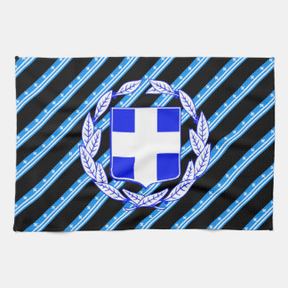 Greek stripes flag kitchen towel