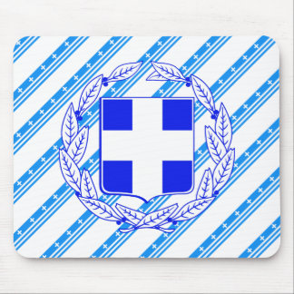 Greek stripes flag mouse pad