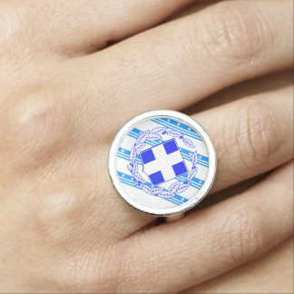 Greek stripes flag photo rings