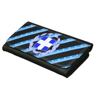 Greek stripes flag wallet