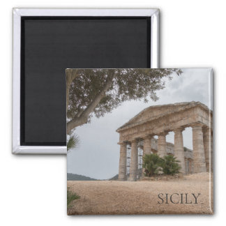 Greek temple at Segesta, Sicily Magnet