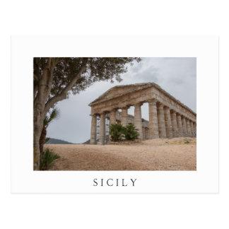 Greek temple at Segesta, Sicily Postcard