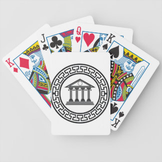 Greek temple bicycle playing cards