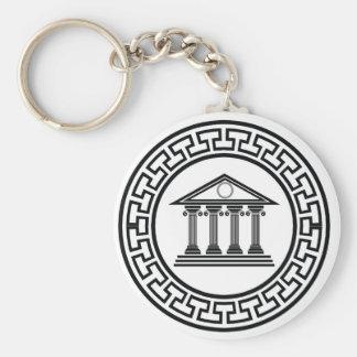 Greek temple keychain