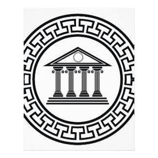 Greek temple letterhead