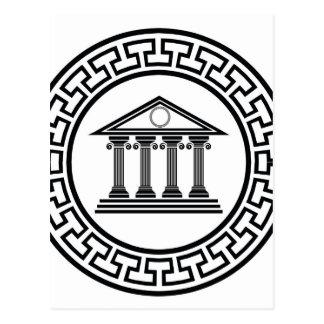 Greek temple postcard