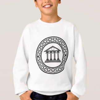 Greek temple sweatshirt