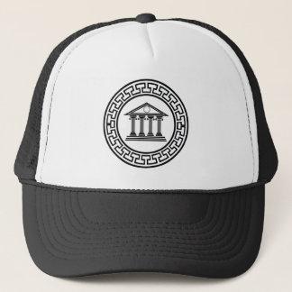 Greek temple trucker hat
