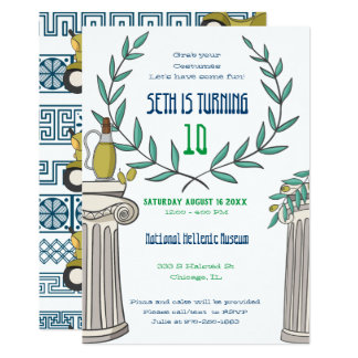 Greek Themed Party Invitation