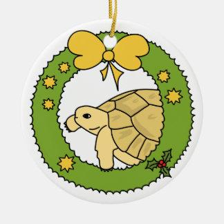 Greek Tortoise Christmas Ornament (wreath)