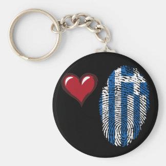 Greek touch fingerprint flag basic round button keychain