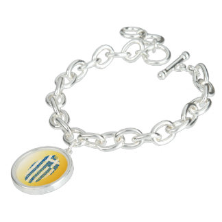 Greek touch fingerprint flag bracelet