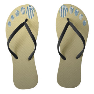 Greek touch fingerprint flag flip flops