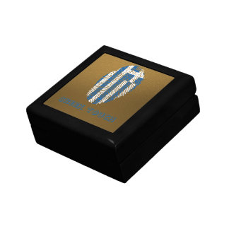 Greek touch fingerprint flag jewelry boxes