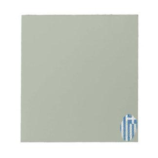 Greek touch fingerprint flag notepad