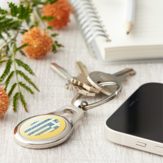 Greek touch fingerprint flag Silver-Colored oval keychain