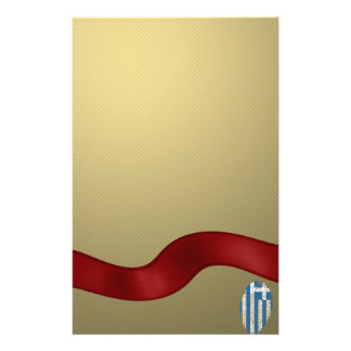 Greek touch fingerprint flag stationery
