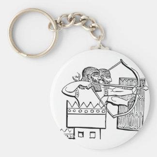 Greek Warrior Art Basic Round Button Keychain