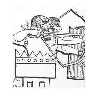 Greek Warrior Art Notepad