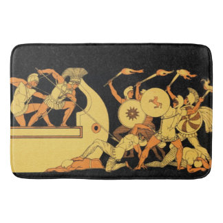 Greek Warriors Bath Mat