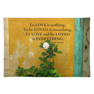 greekproverbInspirational Love quote Greek Proverb Place Mat