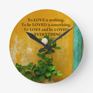 greekproverbInspirational Love quote Greek Proverb Round Clock