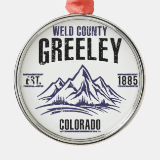 Greeley Metal Ornament