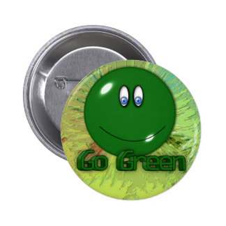 Green 2 Inch Round Button