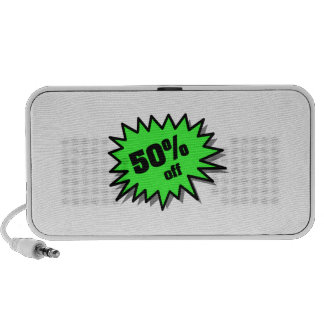 Green 50 Percent Off Notebook Speakers