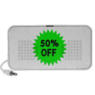 Green 50 Percent Off Travelling Speakers