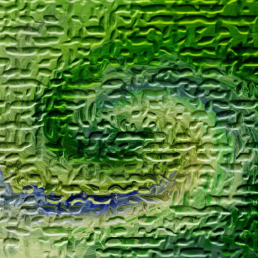 Green Abstract Art Cut Outs