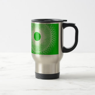 green abstract art will blow your mind travel mug