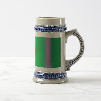 Green Abstract Balance Mugs