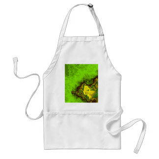 Green Abstract Blob Adult Apron
